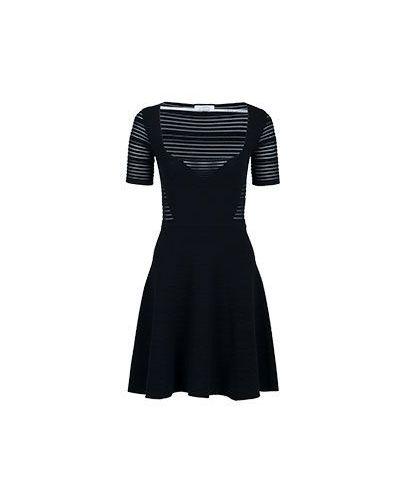 Платье из вискозы черное Versace Collection