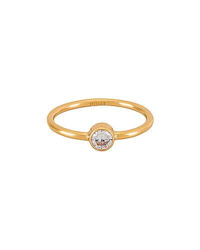 Złoty pierścionek z cyrkoniami Miranda Frye
