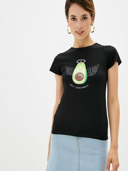 Черная футболка с короткими рукавами Shelter