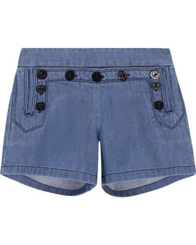 Голубые джинсовые шорты Chloé