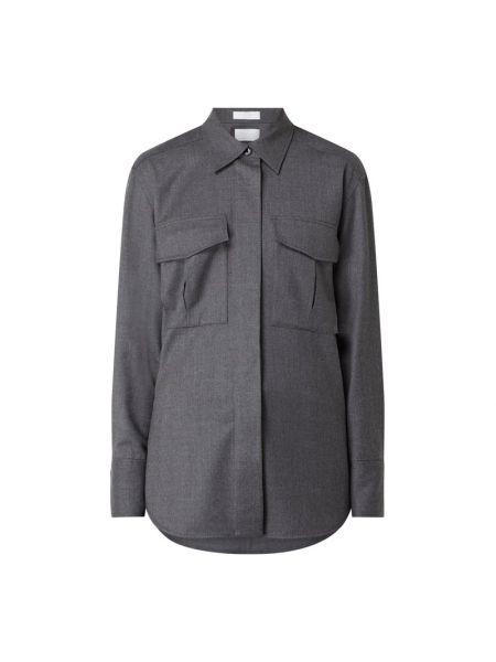Wełniany bluzka z mankietami z kołnierzem z kieszeniami Boss