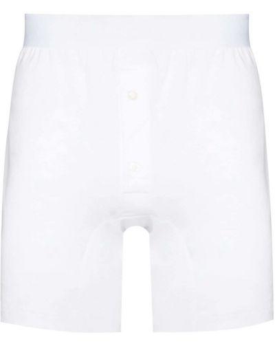 Белые трикотажные шорты Sunspel