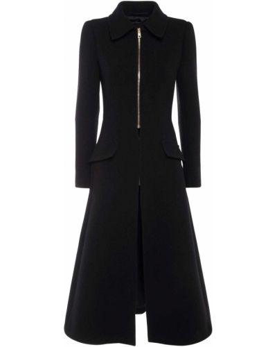 Черное пальто с карманами Sportmax