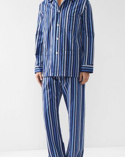 Пижама в полоску хлопковая Derek Rose