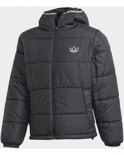 Повседневная черная утепленная дутая куртка Adidas