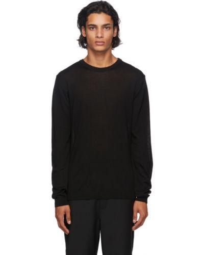 Czarny sweter wełniany z długimi rękawami Norse Projects