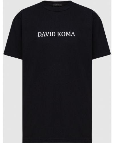 Футболка - черная David Koma
