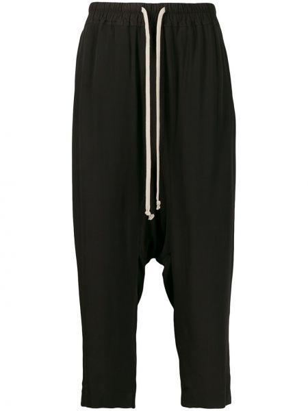 Укороченные брюки черные Rick Owens