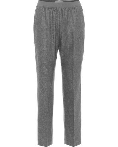 Прямые шерстяные серые брюки Agnona