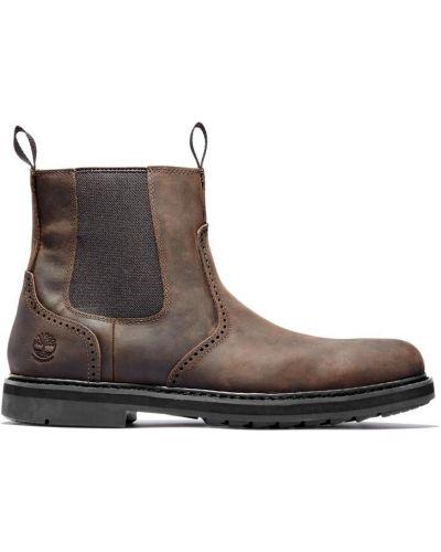 Водонепроницаемые коричневые кожаные ботинки челси Timberland