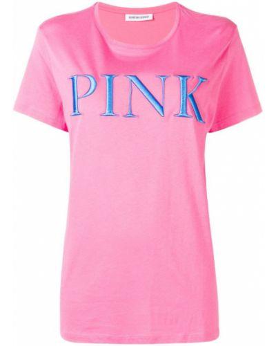 Футбольная розовая футболка с вышивкой Quantum Courage