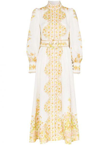 Платье миди с разрезами по бокам с поясом Zimmermann
