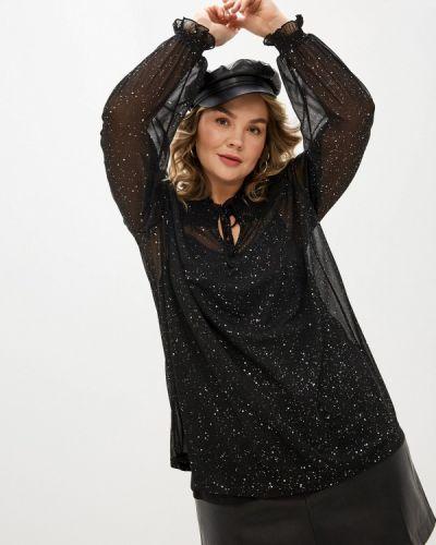 С рукавами черная блузка Evans