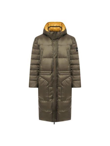 Теплая нейлоновая утепленная куртка на бретелях хаки Odri