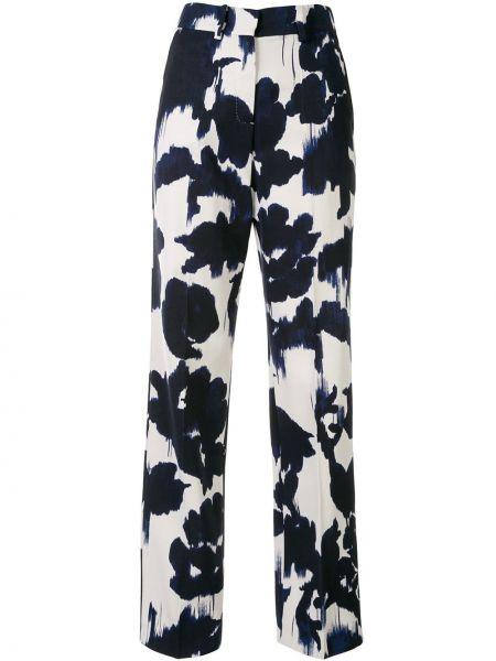 Czarne spodnie z wysokim stanem wełniane Delpozo