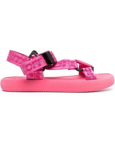 Prążkowane różowe sandały Off-white