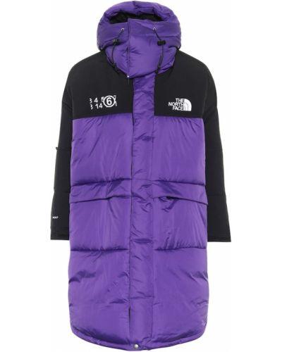 Фиолетовое пуховое пальто Mm6 Maison Margiela