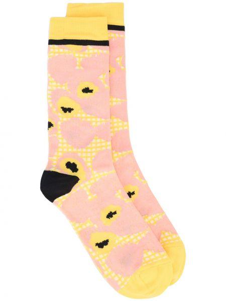 Желтые носки с принтом Henrik Vibskov