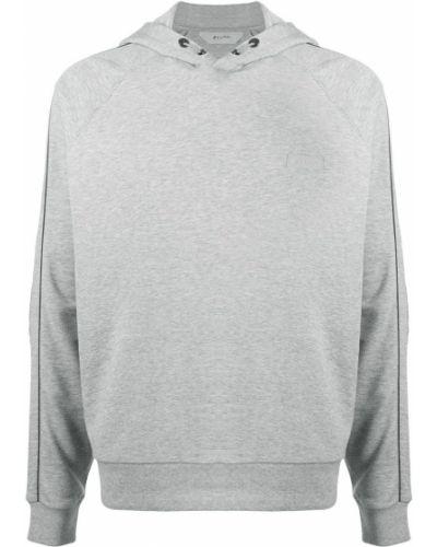 Bluza długa z kapturem z długimi rękawami bawełniana Z Zegna