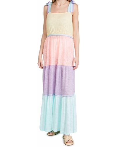 С ремешком трикотажное платье на бретелях Pitusa