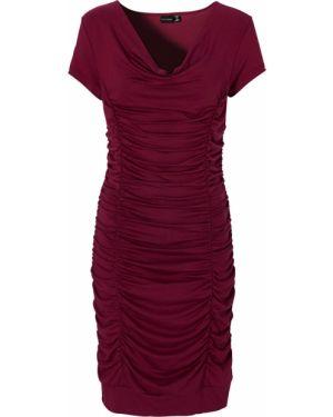 Облегающее платье на резинке однотонное Bonprix