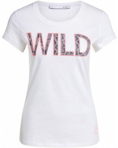 T-shirt materiałowa - niebieska Oui