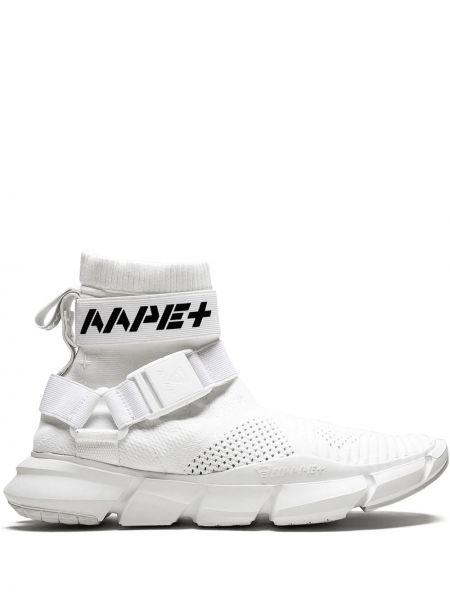 Czarne wysoki sneakersy oversize klamry Aape