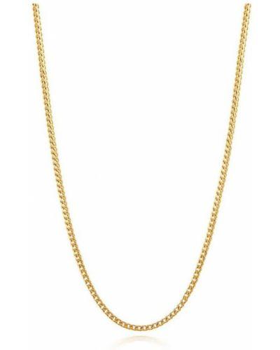 Żółty złoty łańcuch ze złota pozłacany Nialaya