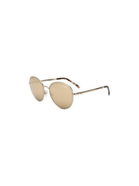 Тонкие коричневые солнцезащитные очки металлические Chanel