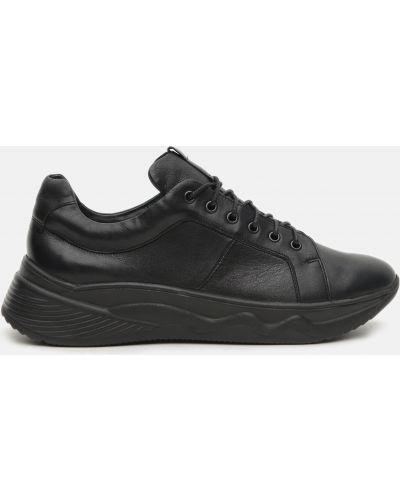 Кожаные кроссовки - черные Ikos