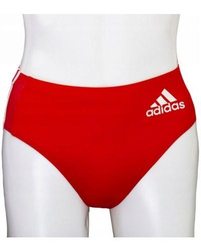 Czerwony kąpielówki Adidas