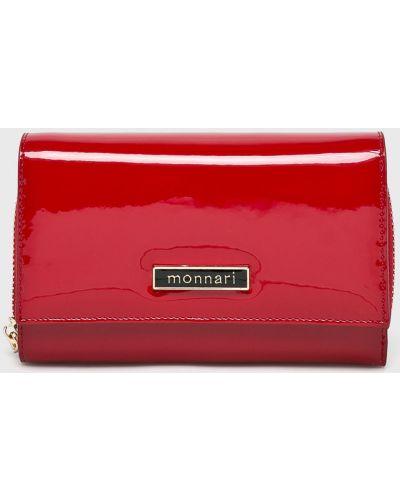 Кожаный кошелек - красный Monnari
