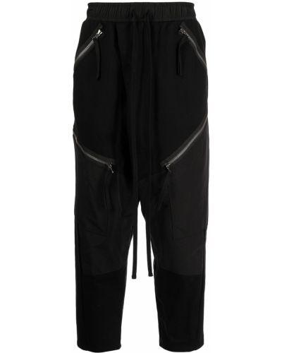 Czarne spodnie dresowe bawełniane Julius