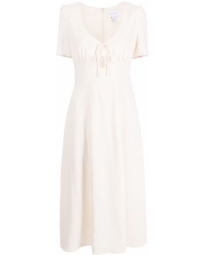 Платье миди с короткими рукавами - белое Alice Mccall