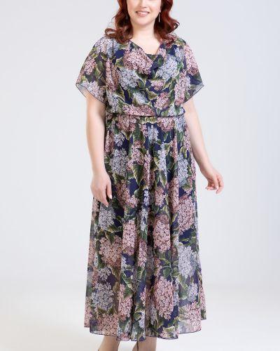 Приталенное летнее платье на бретелях на торжество эластичное прима линия