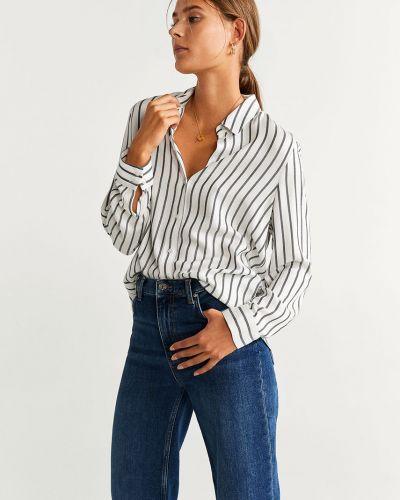 Блузка с длинным рукавом с вышивкой из вискозы Mango