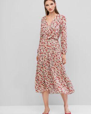 Платье с поясом с цветочным принтом Zaful