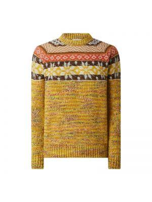 Sweter wełniany - żółty Altea