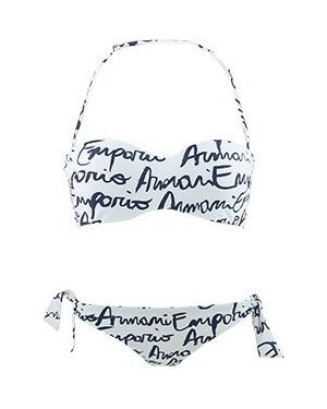 Купальник из полиамида - белый Emporio Armani