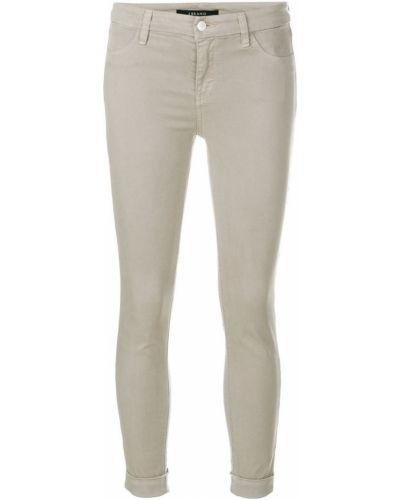 Серые брюки хлопковые J Brand
