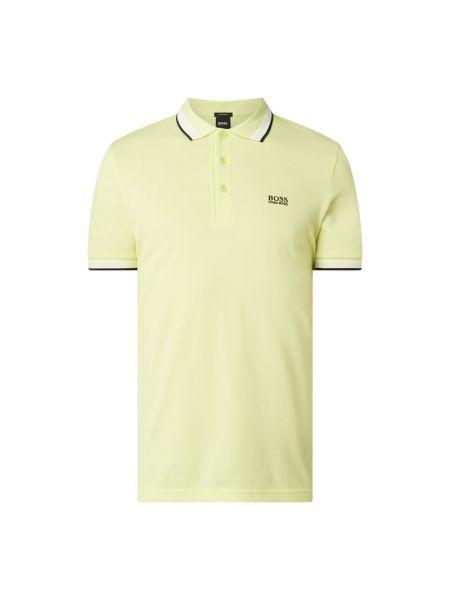 T-shirt z paskiem - żółta Boss Athleisurewear