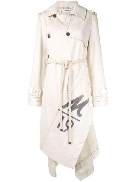 Парусиновое пальто с воротником на пуговицах с карманами Monse