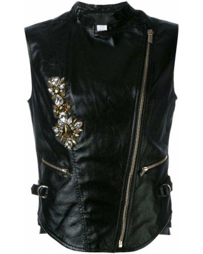 Кожаная куртка черная Stefano De Lellis