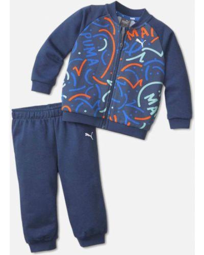 Костюмный синий спортивный костюм Puma