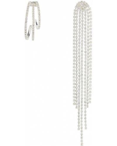 Kolczyki sztyfty srebrne asymetryczne z kryształkami Magda Butrym