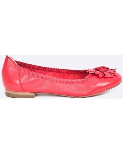 Красные брюки льняные Caprice