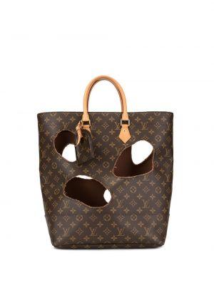 Кожаная золотистая коричневая сумка-тоут круглая Louis Vuitton