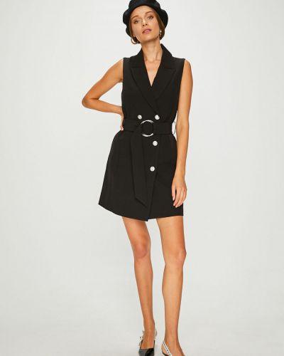 Платье мини на пуговицах с поясом Answear