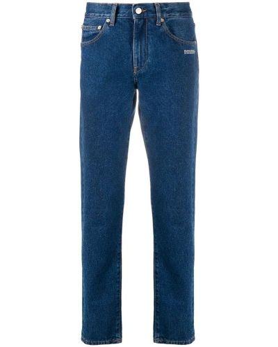 Jeansy w paski zapinane na guziki bawełniane Off-white