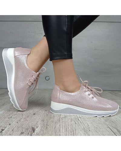 Кожаные кроссовки - розовые Kadisailun